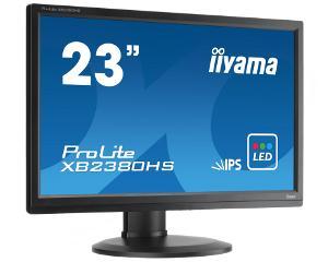 "23""LCD iiyama XB2380HS-B1 - IPS, 5ms, 250cd/m2, FullHD, VGA, DVI, HDMI, repro, pivot, výšk.nastav."