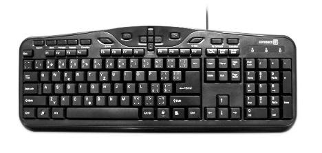 CONNECT IT Klávesnice 6608 s multimediálními tlačítky, USB, černá