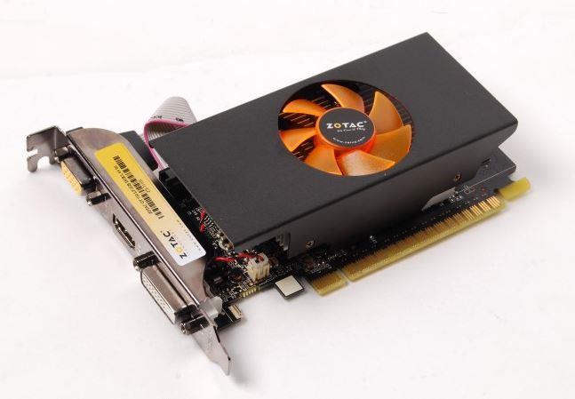 ZOTAC GeForce GT 730 Low Profile, 2GB DDR5 (64 Bit), HDMI, DVI, VGA