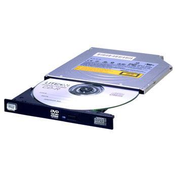 Lite-On interní DVD vypalovačka pro notebooky, SLIM 9,5 mm, SATA, bulk, černá