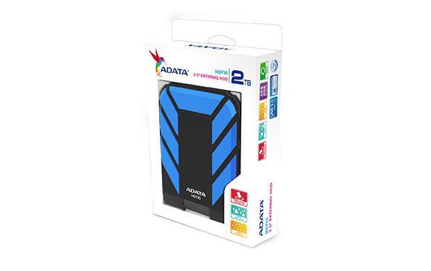 """ADATA Externí HDD 2TB 2,5"""" USB 3.0 DashDrive™ Durable HD710, modrý (gumový, vodě/nárazu odolný)"""