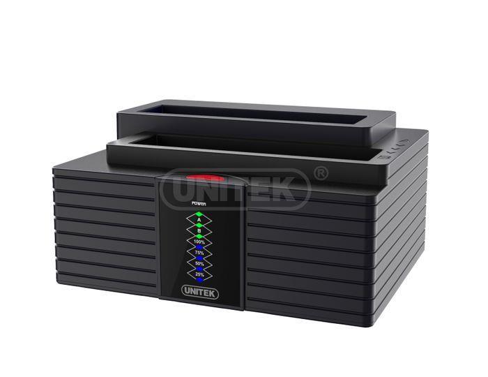 Unitek Y-3025 dokovací stanice dual HDD USB 3.0, funkce klonování offline