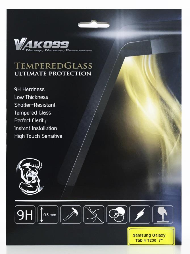 VAKOSS tvrzené ochranné sklo pro Tablet Samsung Galaxy Tab 4 T230 7'', 9H