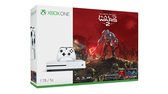Xbox One S 1TB + Halo Wars 2 Ultimate Edition