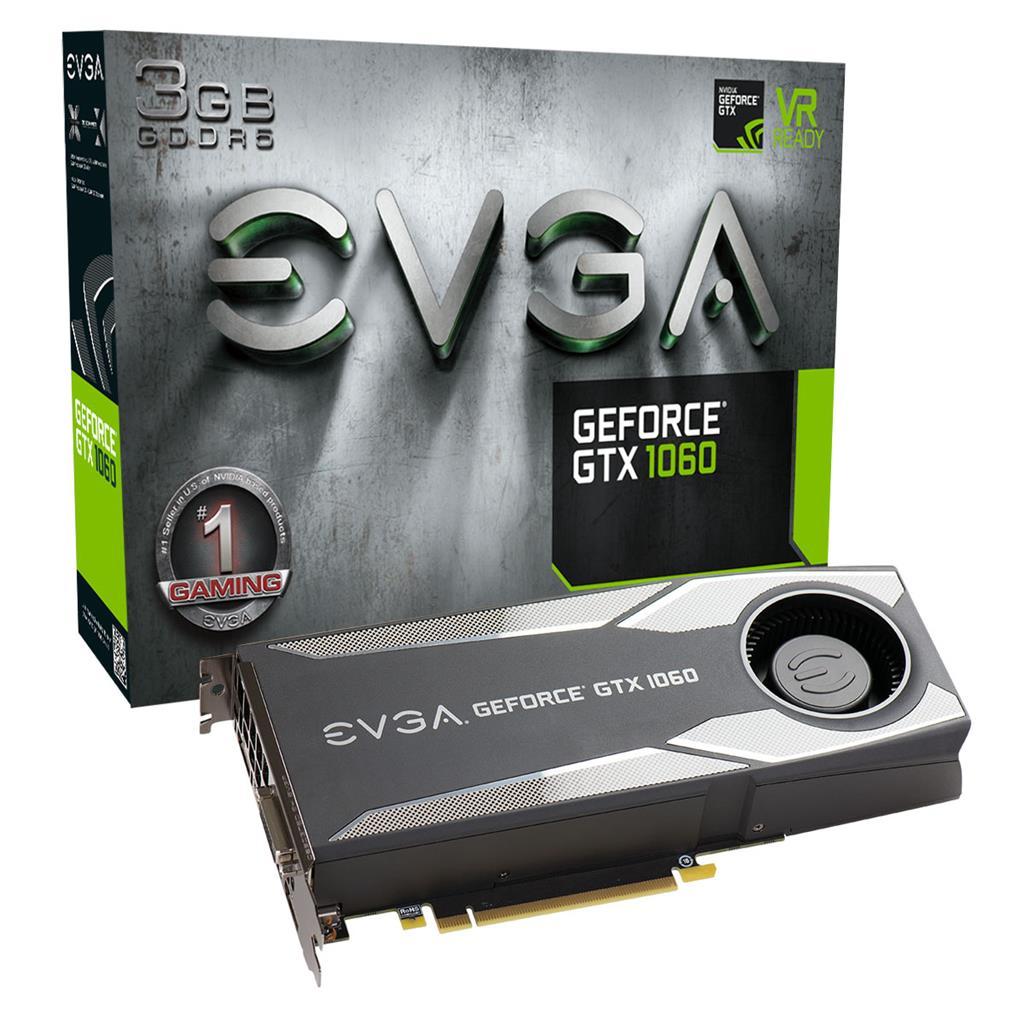 EVGA GeForce GTX 1060 GAMING, 3GB GDDR5, DP/HDMI/DVI