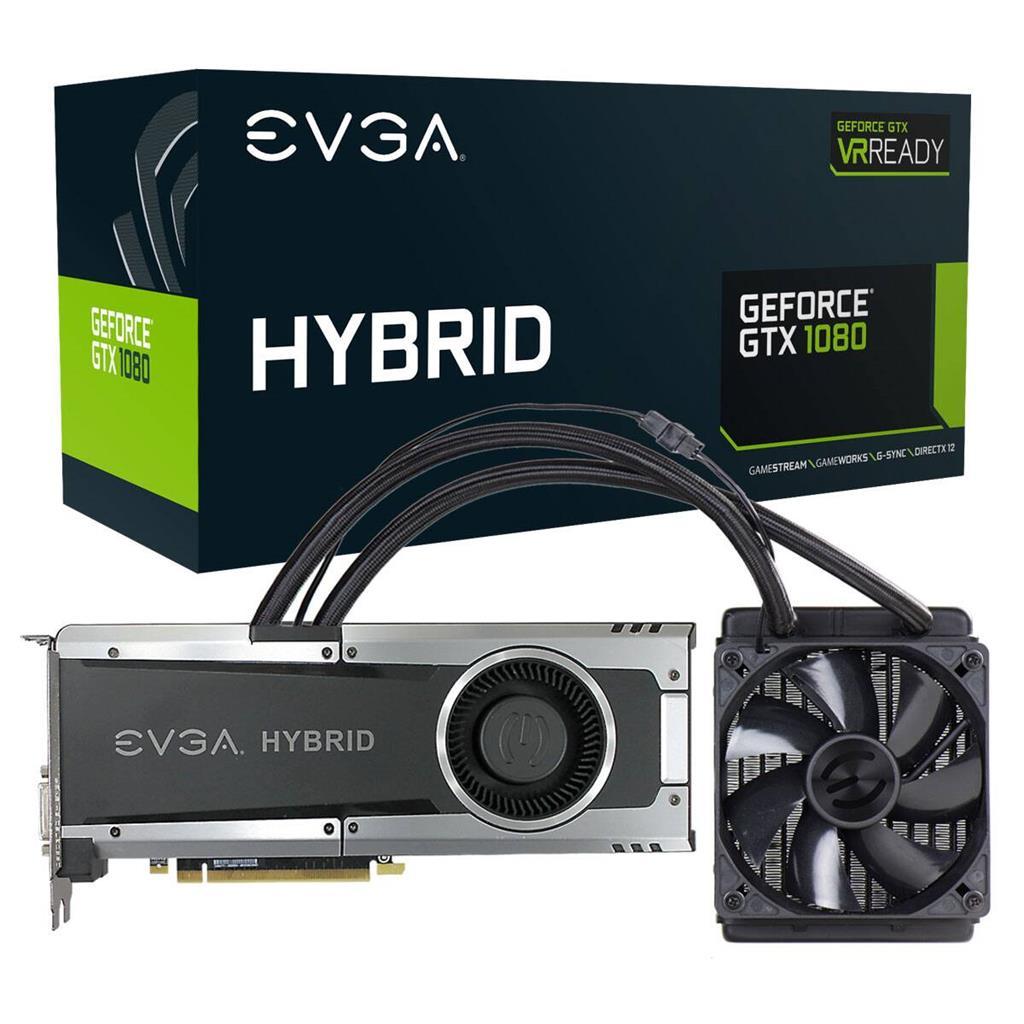 EVGA GeForce GTX 1080 GAMING, 8GB GDDR5X, HYBRID & LED, HDMI/DP/DVI