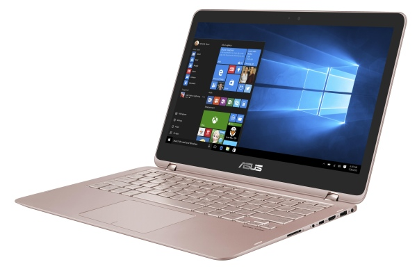 "ASUS UX360UAK-BB328T i5-7200U/8GB/256G SSD SATA3/HD graphics/13,3"" 1920x1080 IPS Touch matný/W10/Rose Gold"