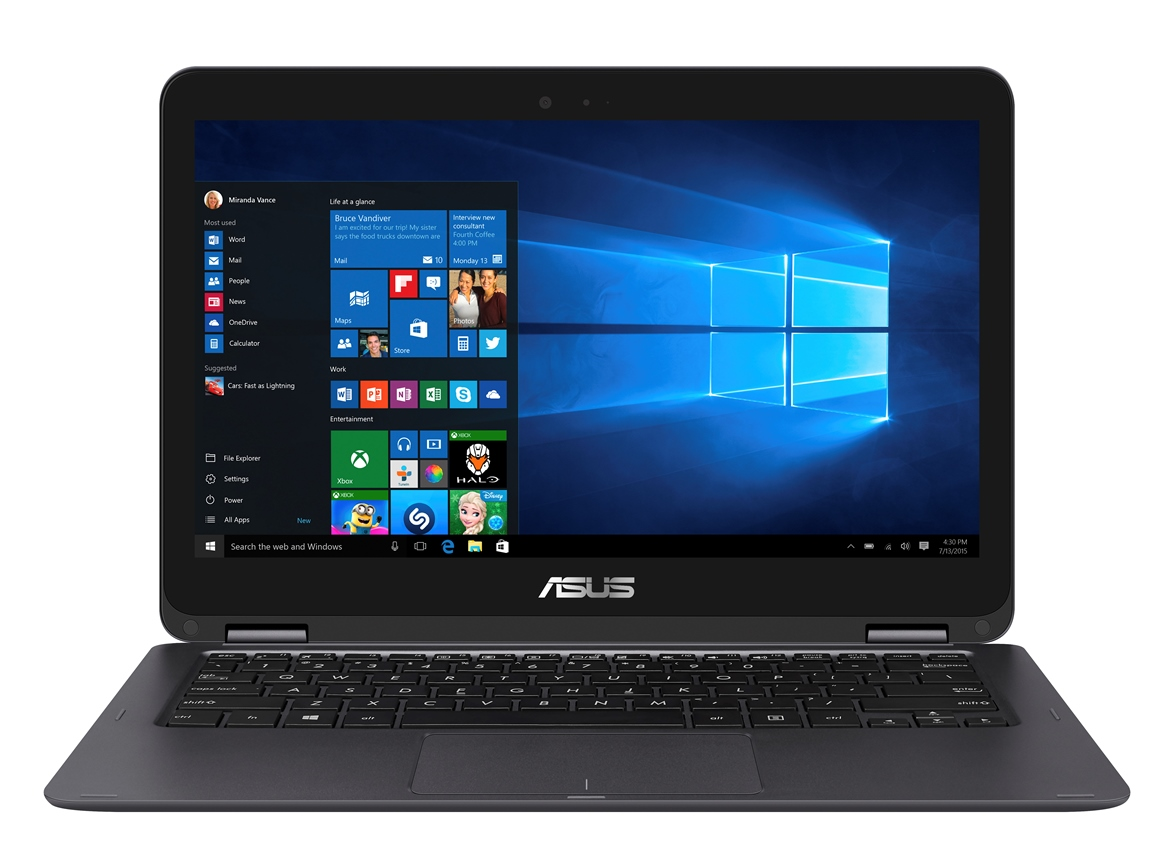"""ASUS UX360UAK-BB304T i5-7200U/8GB/256GB SSD M.2/HD graphics/13.3"""" FHD Touch LED matný/W10 Home/Grey"""