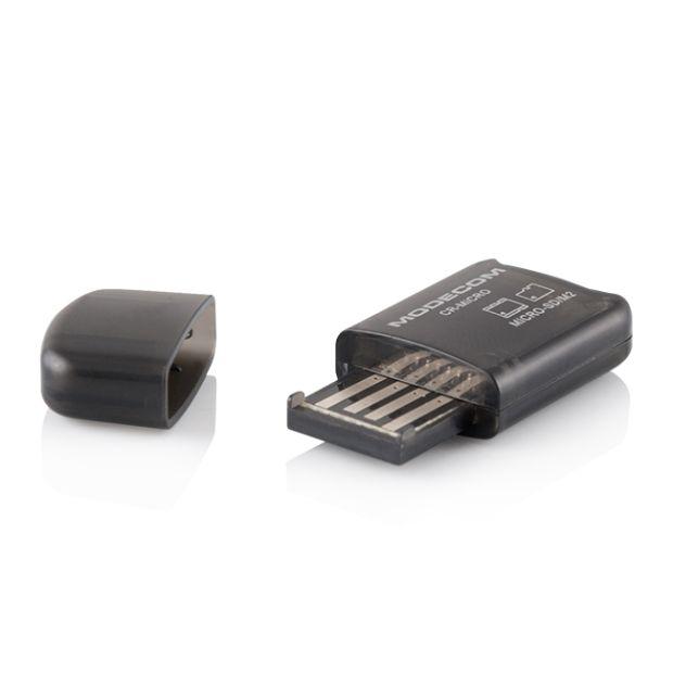 Modecom CR MICRO externí čtečka paměťových karet, USB 2.0, M2, Micro SD, Trans Flash, černá