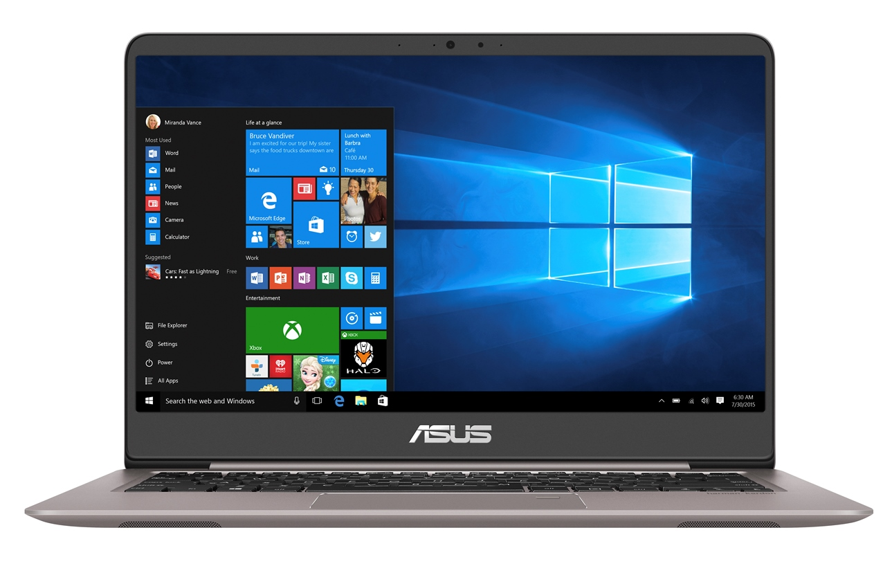 "ASUS UX410UA-GV151T i3-7100U/4GB/256GB SSD M.2/HD graphics/14"" FHD LED matný/W10 Home/Grey"