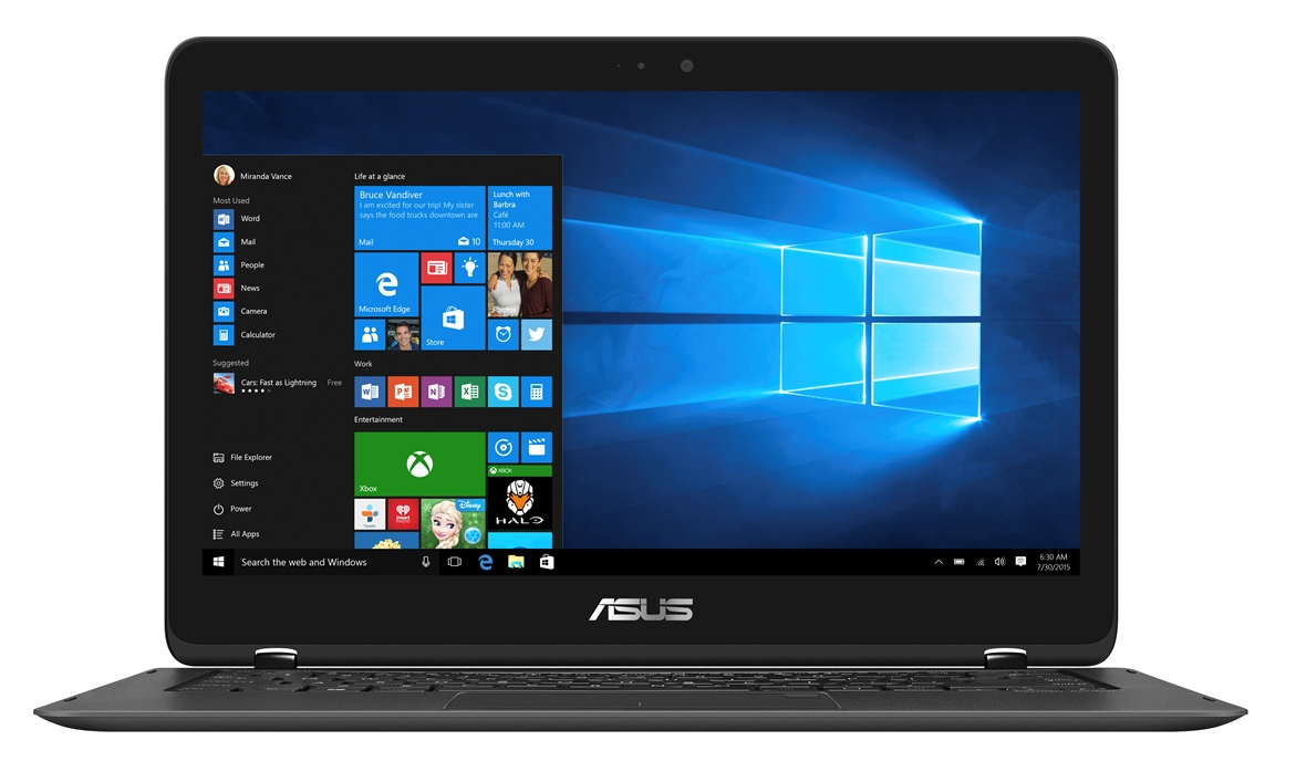 "ASUS UX360UAK-BB291R i5-7200U/8GB/512G SSD SATA3/ HD graphics/13,3"" 1920x1080 IPS Touch matný/W10Pro/Black"