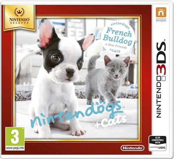 Nintendo 3DS Nintendogs+Cats-French Bull&new Friends Select