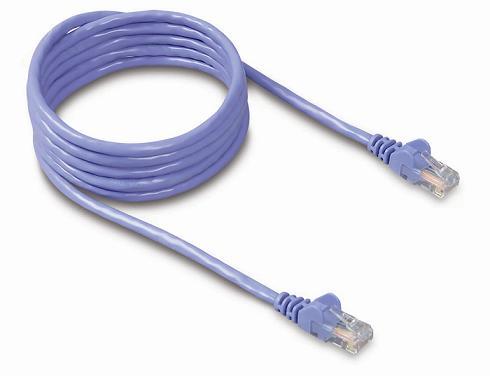 Belkin kabel PATCH UTP CAT5e 5m modrý, bulk Snagless