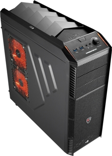PC skříň Aerocool X-PREDATOR X1, 2xUSB 3.0, černá (bez zdroje)