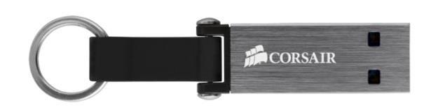 Corsair Flash Voyager Mini USB 3.0 32GB, hliníkový s odolným řemínkem a kroužkem