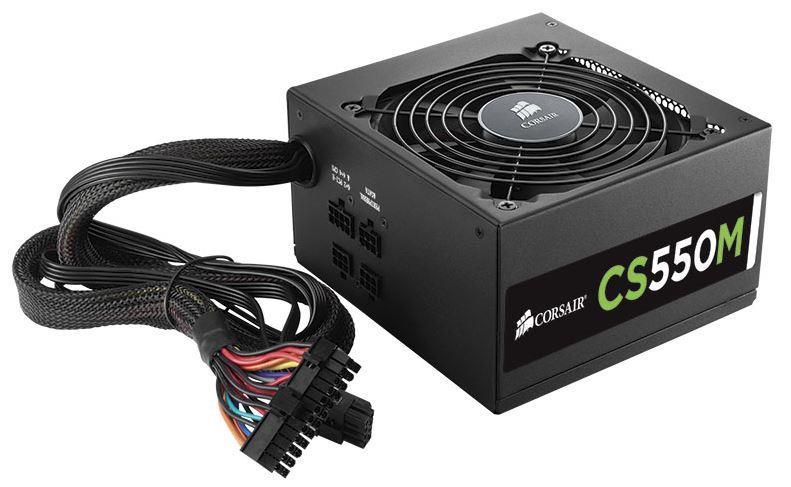 Corsair zdroj 550W CS Series CS550M, 80 PLUS Gold, modulární, Intel Haswell komp
