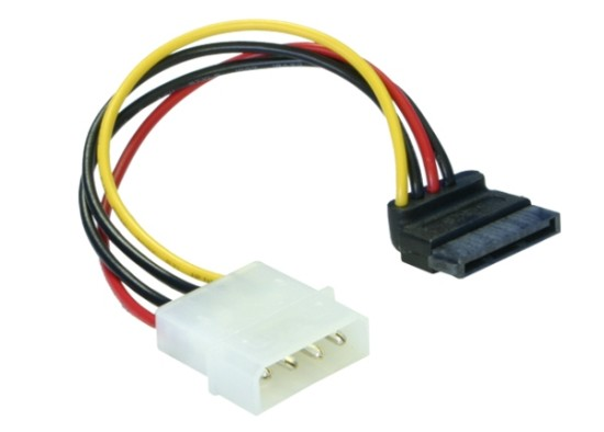 Power Adapter Molex na 1x SATA 15-pin kolmý dolů