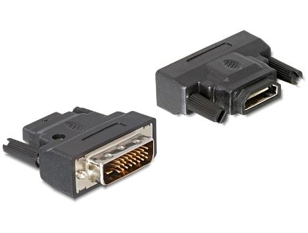 Delock adaptér DVI 24+1 samec > HDMI samice s LED