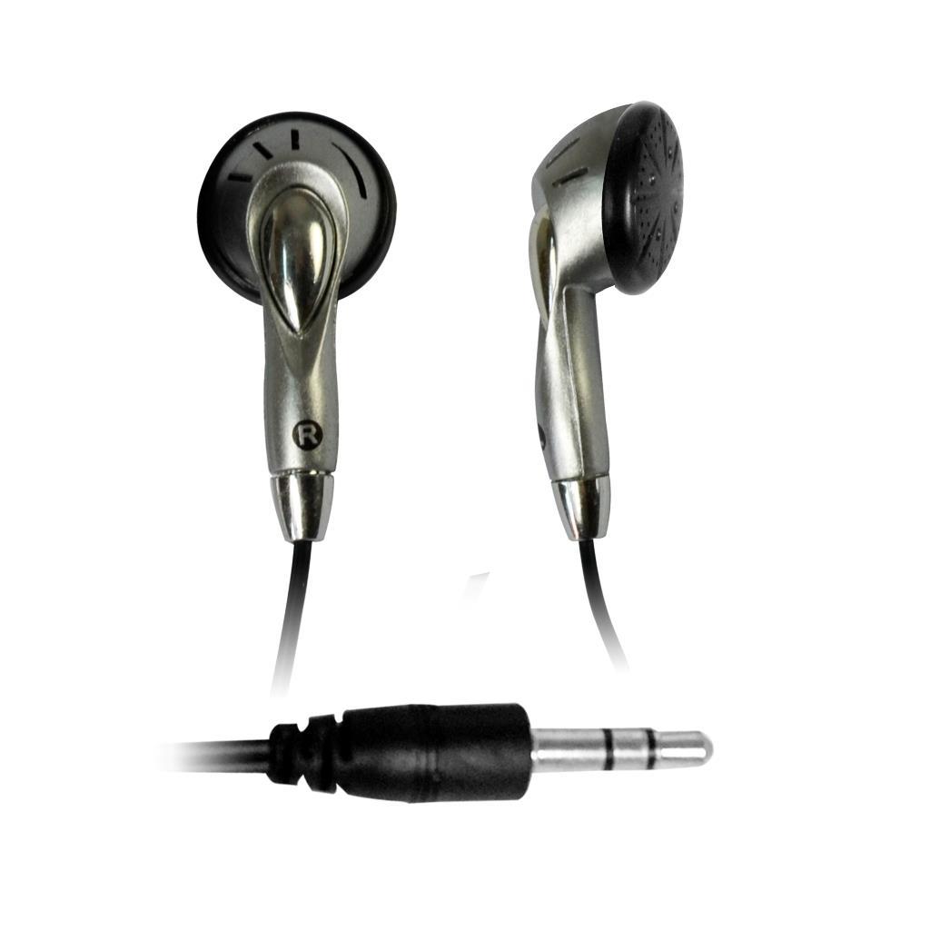 MSONIC Stereofonní sluchátka do uší MP3/MP4 MH123ES stříbrná
