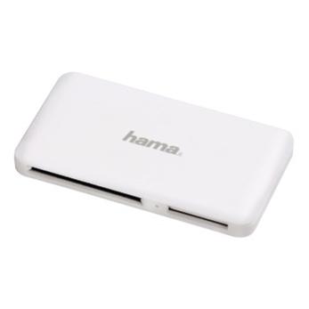 Hama slim USB 3.0 SuperSpeed Multi čtečka karet, pogumovaný povrch, bílá