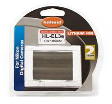 Hähnel HL-EL3e - Nikon EN-EL3e, 1650 mAh 7.4V, info systém