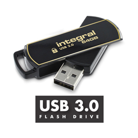 Integral flash disk 8GB AES-256 bit SecureLock 360 secure USB3.0