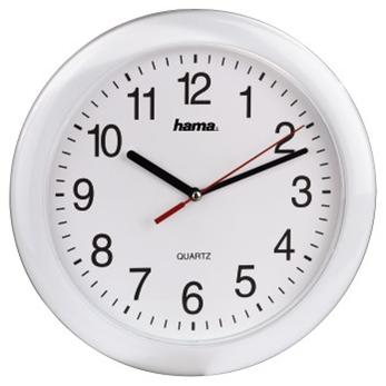 Hama nástěnné hodiny PP-250 Quartz, bílé
