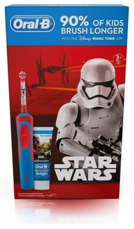 Oral-B D12 Kids Star Wars zubní kartáček + zubní pasta 75ml