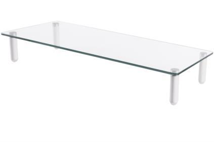 Universal Glass Monitor Riser, 56x21cm, max. load 20kg