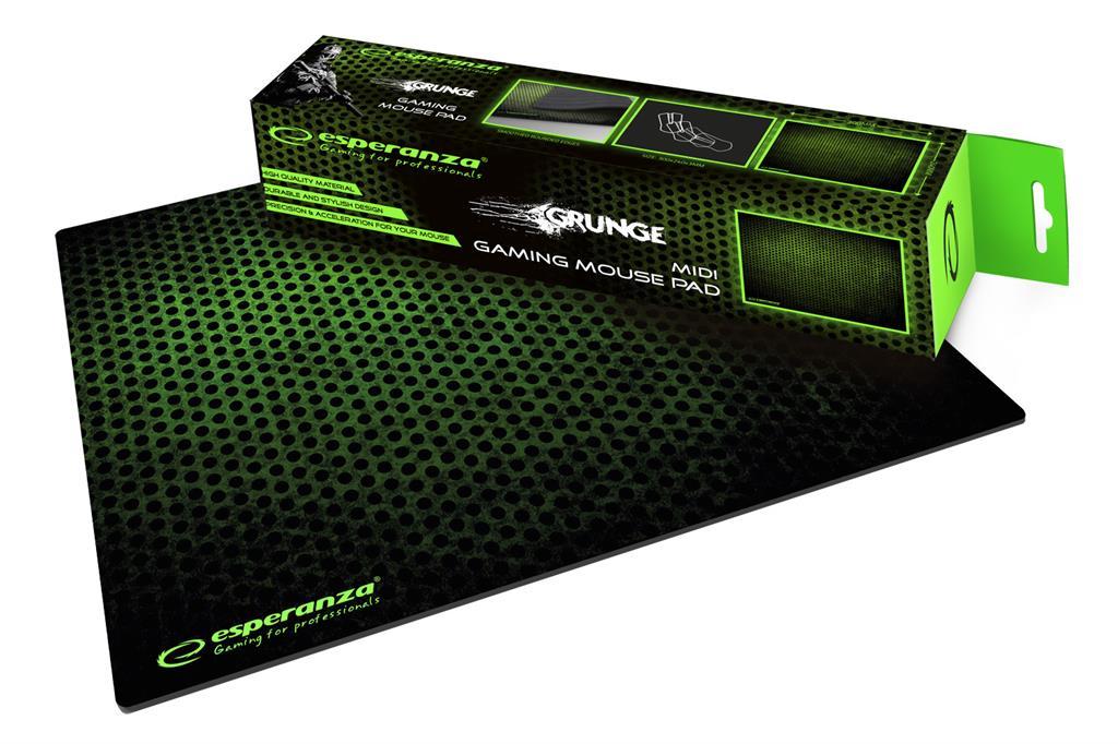 Esperanza EGP102G GAMING GRUNGE MIDI podložka pod myš (300x240x3mm), zelená