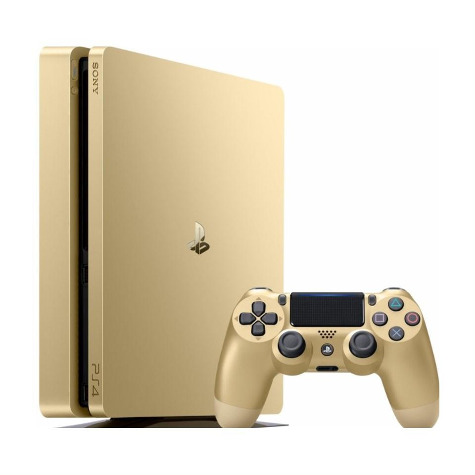 PS4 500GB Slim Gold + 2nd Controller Gold DS4