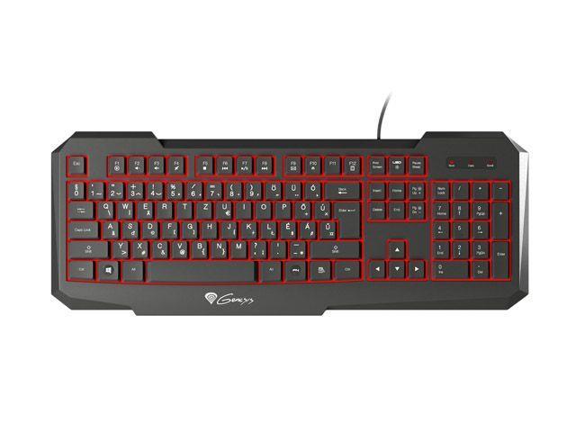 Genesis RX11 herní klávesnice, s podsvícením, HUN layout, USB, černá