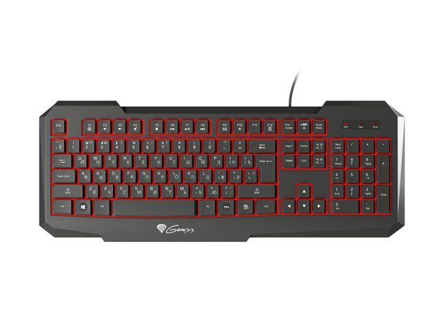 Genesis RX11 herní klávesnice, s podsvícením, RU layout, USB, černá