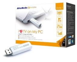 AVerMedia digitální TV tuner, AVerTV Volar HD Pro A835, DVB-T, HDTV, USB 2.0