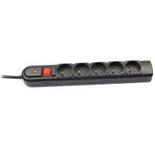 Tracer PowerGuard přepěťová ochrana (5 zásuvek), 1.8 m, černá