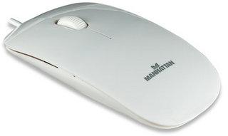 Manhattan Silhouette optická slim myš, 1000dpi, USB, bílá