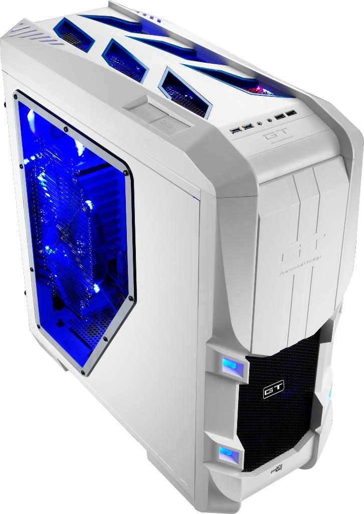 PC skříň Aerocool ATX GT-S WHITE EDITION, USB 3.0, bez zdroje