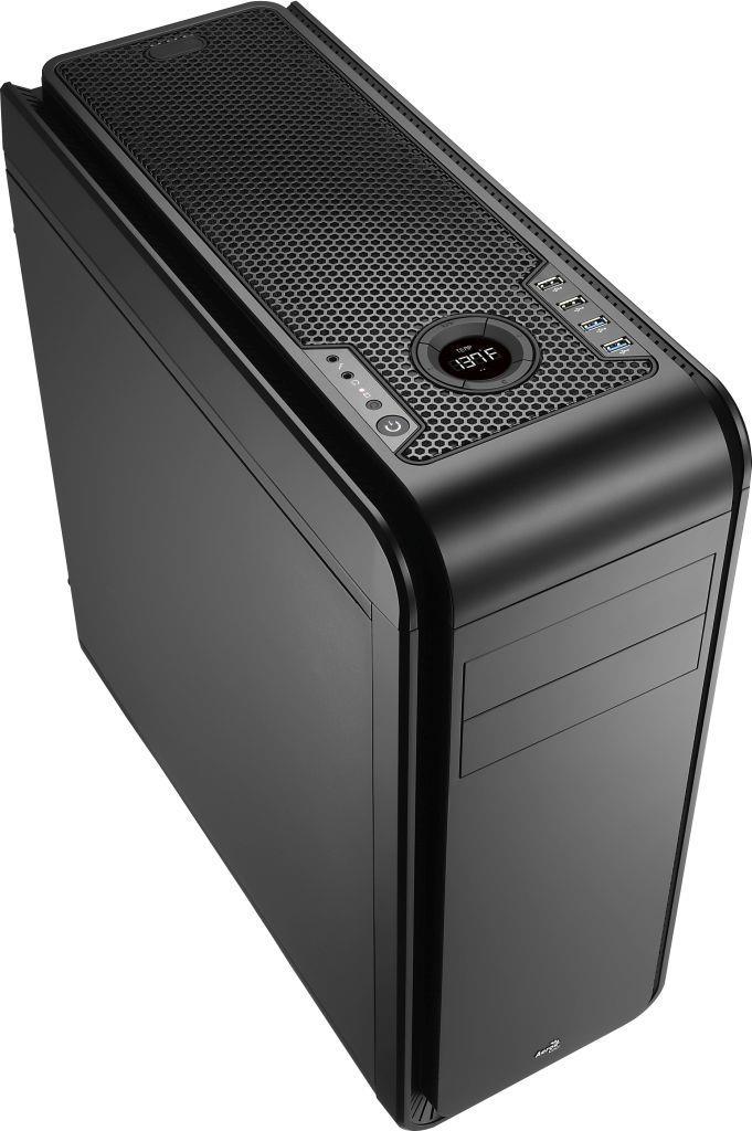 PC skříň Aerocool ATX DS 200 LITE BLACK, USB 3.0, bez zdroje