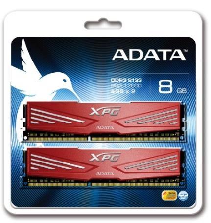 DIMM DDR3 8GB 2133MHz CL10 512x8 (KIT 2x4GB) ADATA XPG V1.0 Red, retail