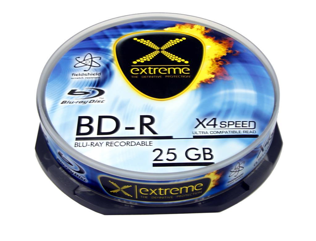 Extreme Blu-ray BD-R [ Cake Box 10 | 25GB | 4x ]