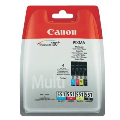 Canon BJ CARTRIDGE CLI-551 C/M/Y/BK Multi Pack BLISTER SEC