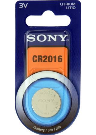 SONY CR2016B1A velikost CR2016, 1 ks, v blistru
