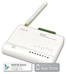 EVOLVEO Sonix - bezdrátový GSM alarm (4ks dálk. ovlád.,PIR čidlo pohybu,čidlo na dveře/okno,externí repro,Android/iPhone)