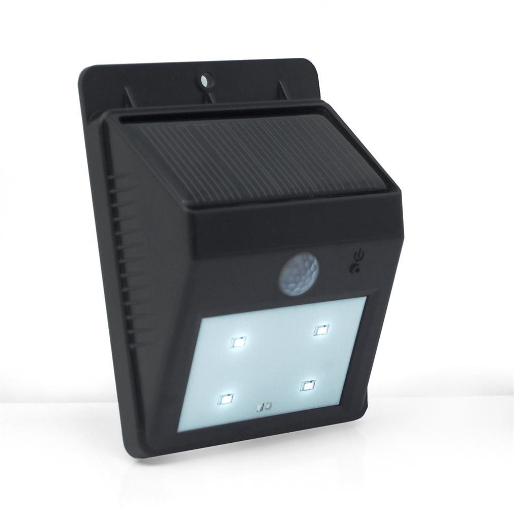 PowerNeed Sunen Solární nástěnné svítidlo s pohybovým čidlem IP64