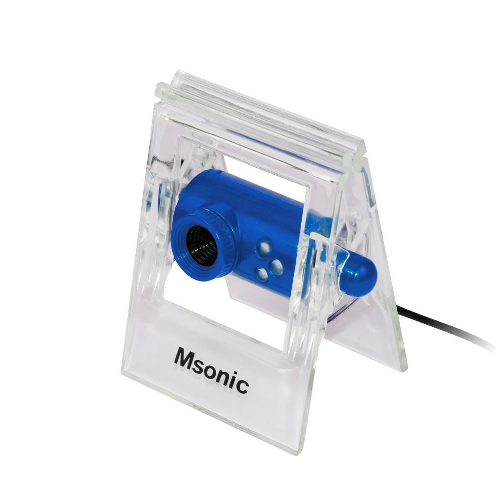 MSONIC webová kamera s mikrofonem USB 2.0, 3 led, MR1803B modrá