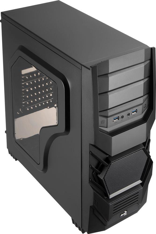 PC skříň Aerocool ATX PGS CYCLOPS BLACK, USB 2.0, bez zdroje