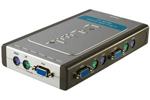 D-Link 4-Port KVM Switch, With 2 KVM cables