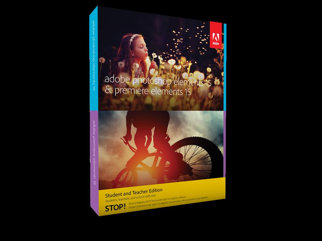 Photoshop/Premiere Elements 15 CZ WIN STUDENT&TEACHER Edition Box