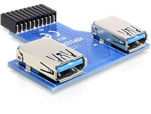 Delock USB 3.0 pinový konektor > 2 x USB 3.0 samice - vedle sebe