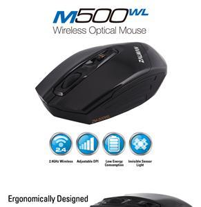 Zalman myš ZM-M500WL, bezdrátová optická, 3000DPI, USB, 4tl., black